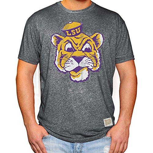(Elite Fan Shop LSU Tigers Retro Tshirt Charcoal - M)