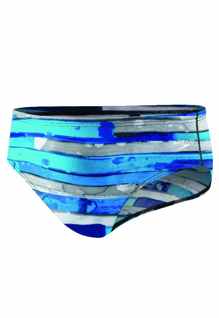 Speedo Men's Endurance+ Color Stroke Brief Swimsuit