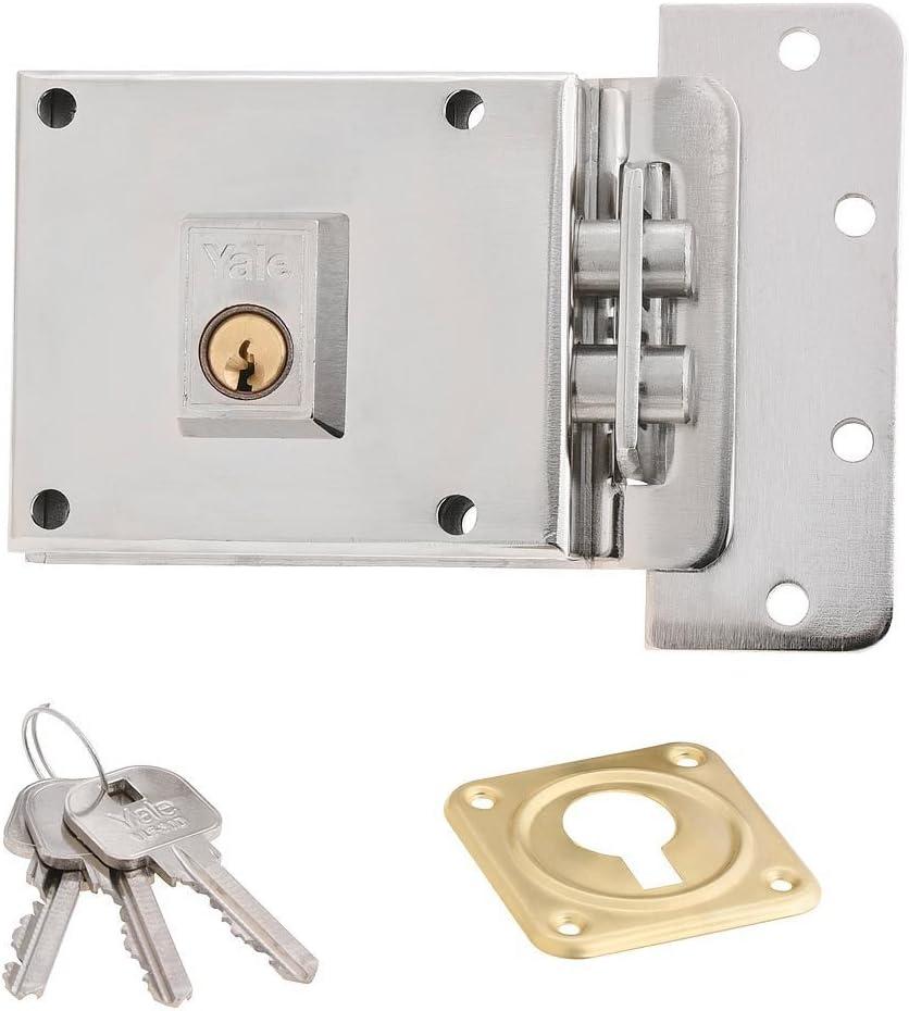 estilo moderno Cerradura cil/índrica de acero inoxidable para puerta con 3 llaves marr/ón