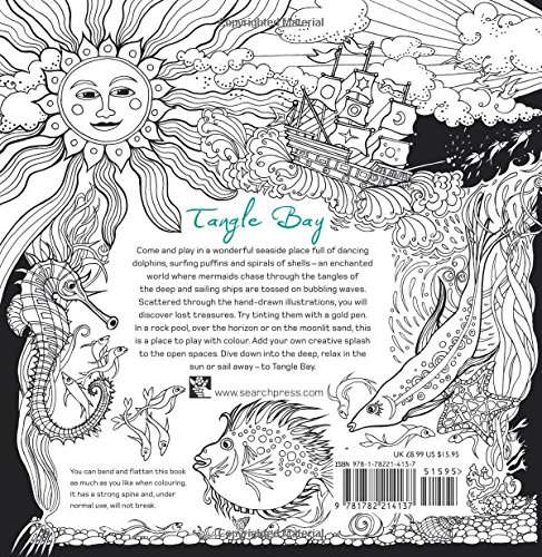 Tangle Bay An Enchanting Colouring Book With Hidden Treasure Amazoncouk Jessica Palmer 9781782214137 Books