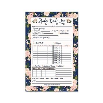 amazon com nanny newborn baby or toddler log tracker journal book