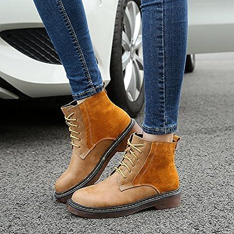 NSXZ stivali di pelle femminili scarpe grosse con Martin