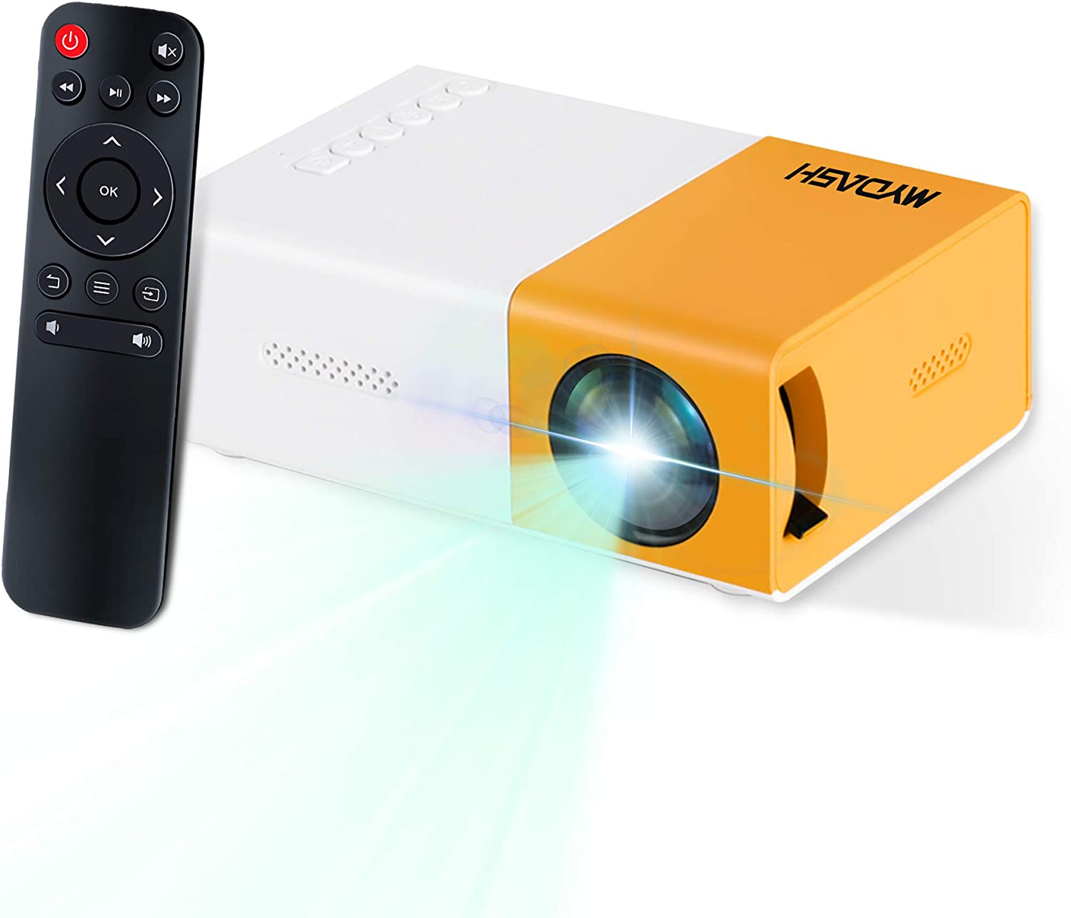 Portable Mini Projector LED Projector with HDMI USB AV for Party, Game, Child Present