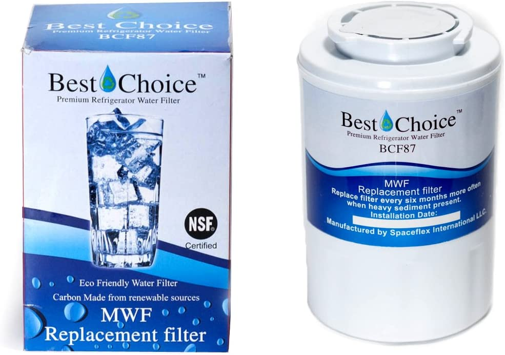 GE MWF SmartWater Compatible By Best Choice Water Filters Certified Refrigerator Replacement Cartridge Fits MWFA, MWFP, GWF, GWFA, Kenmore 9991, 46-9991, 469991 (1-Pack)