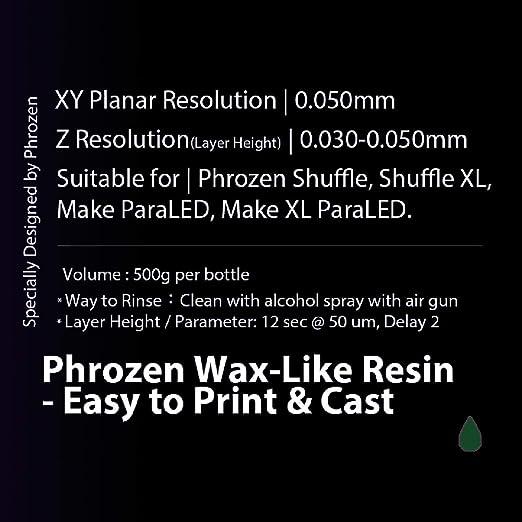 Resina encerada Phrozen, fácil de imprimir y fundir: Amazon.es ...