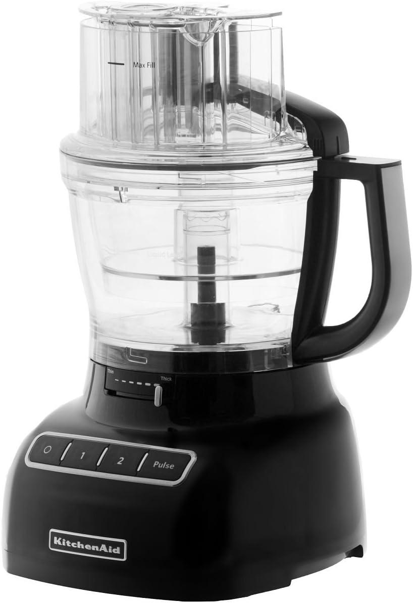 KitchenAid 5KFP1335EOB - Procesadores de alimentos, 300 W, 3.1 L, color negro y transparente: Amazon.es: Hogar