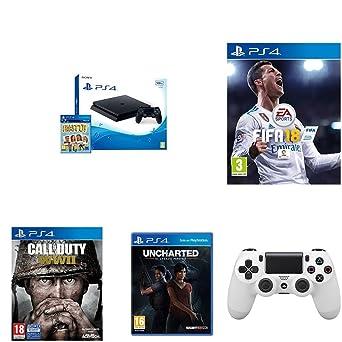 PlayStation 4 (PS4) - Consola De 500 GB, Color Negro + Voucher ¡