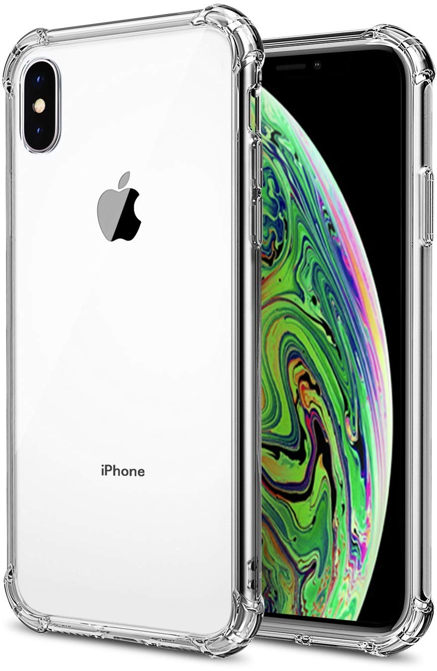 Comsoon iPhone Xs Max Case, [Shock Absorption][Crystal Clear] Soft TPU Bumper Slim Protective Case Cover Scratch-Resistant with 4 Corners Protection for Apple iPhone Xs Max 6.5 inch 2018 (Clear)