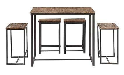 Amazon Com Abington Lane Kitchen Table Set Versatile Tall