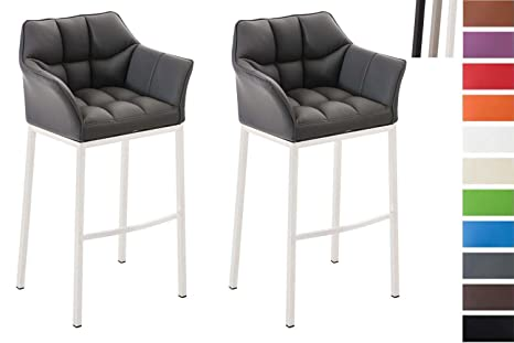 Clp set 2 sgabelli bar damaso sgabello alto design trapuntato in