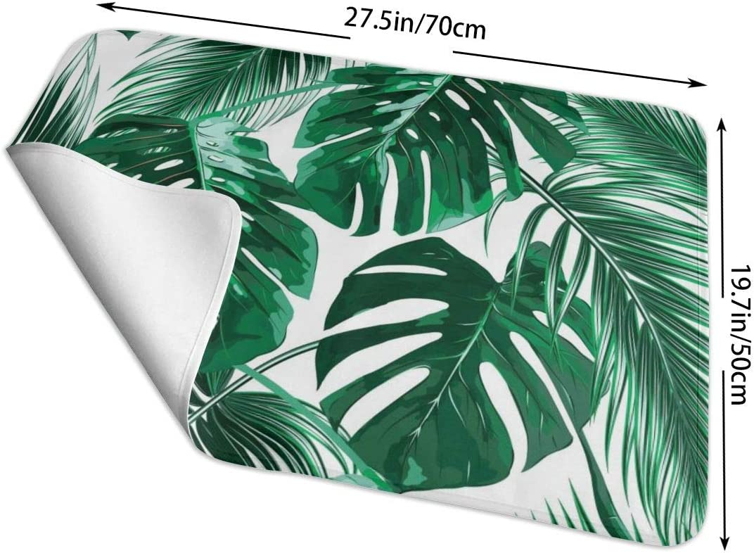 """Waterproof /& Reusable Changing Mat Portable Changing Pad for Change Diaper Palm Banana Leaves #2 25.5/""""x31.5/"""" Unisex Design for Girls /& Boys"""