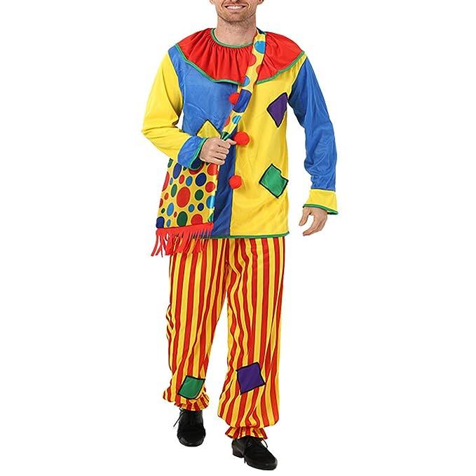 wetry Disfraz de Payaso Adulto Traje de Halloween Cosplay Carnaval ...