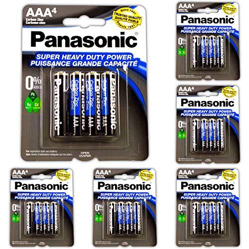 24pc Panasonic AAA Batteries Super Heavy Duty Power Carbon Zinc Triple A Battery 1.5v