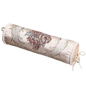 Amazon.com: Got Yi bordado almohada redonda cilindro Candy ...