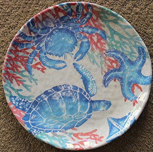 "222 Fifth Sealife 100% Melamine 10.75"" Dinner Plates - Set"