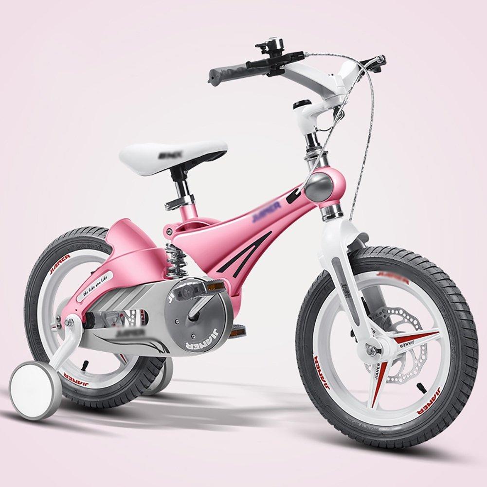 子供用自転車3歳から8歳の男の子および女の子ベビーベビーカー12 14インチのサスペンション自転車ゴールドピンクブルーイエロー B07DXDFGR6 16 inch|ピンク ぴんく ピンク ぴんく 16 inch