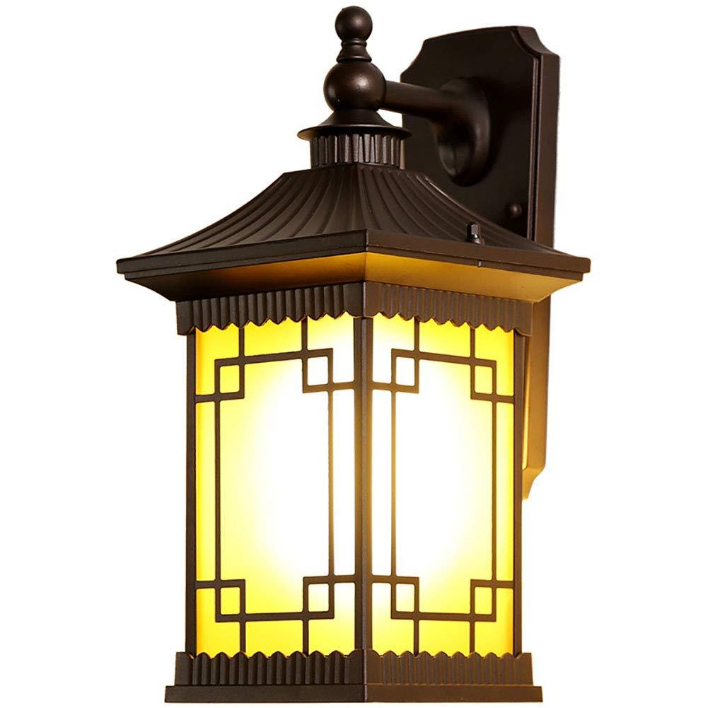 HECHEN Lampada da Parete per Esterno - Giardino Luminoso - corridoio Esterno della Villa Retro corridoio Impermeabile per Esterni,SmallDimensione30×24cm