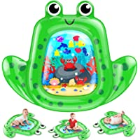 """VATOS Tummy Time Baby Water Mat 43×35"""" X-Large for 3 6 9 18 Months Newborn Infant, Inflatable Play Mat Sensory Toys…"""