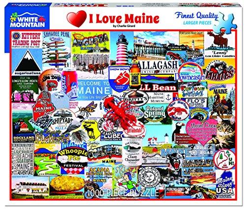 White Mountain Puzzles 1306 New I Love Maine, Multicolor