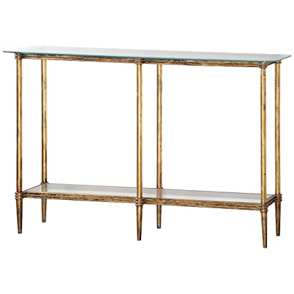 Uttermost 24421 Elenio Glass Console Table