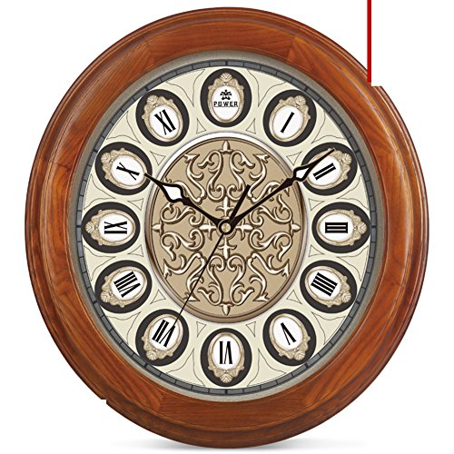 European style living room wall clock/ mute stereo metal clock face clock/Creative fashion solid wood classic quartz watch-A 19inch