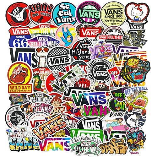 Vans Logo Stickers for Cool Teen, Vinyl Brand Skateboard Water Bottle Laptop Computer Phone Notebook Luggage Guitar Decal 100Pcs Pack