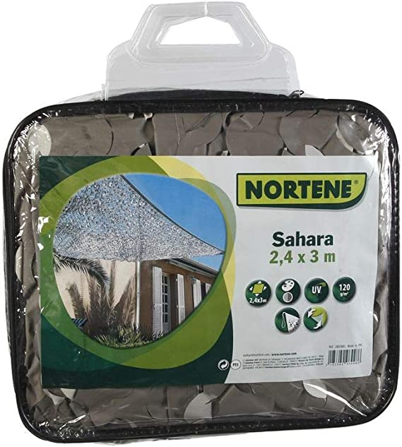 NORTENE Toldo Sombreo Sahara 2.4 X 3 M Gris: Amazon.es: Jardín