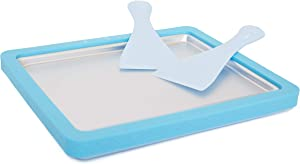 Ice Cream Maker/Pan/Roll - Frozen Yogurt, Sorbet, Gelato - Family Fun, Healthy Alternative DIY at home (Turquoise)