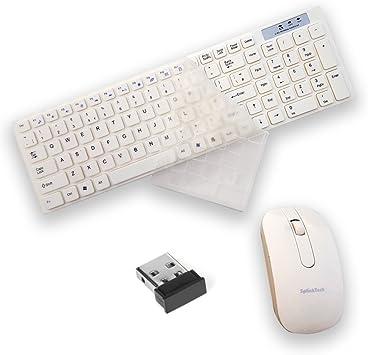 ULTRICS® Teclado y Raton Inalambrico, 2.4 GHz Bluetooth Wireless Keyboard y Mouse Optico Sin Cable Ultra Delgado Combo Pack con Receptor Nano USB para Computadora, Gaming PC, Laptop -Blanco: Amazon.es: Electrónica
