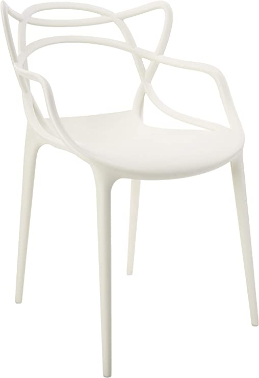 Kartell Masters Stuhl, Weiß, 4er Set