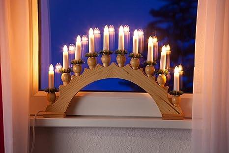 Weihnachtsbeleuchtung Lichterbogen.Weihnachtsbeleuchtung 10er Lichterbogen Leuchter Natur Dekoration