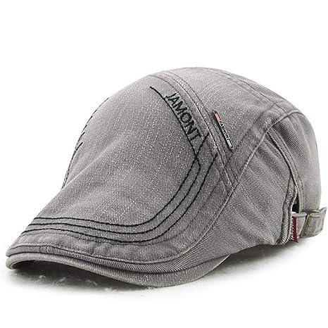 3209f8f3c Topshion Mens Vintage Herringbone Flat Cap Peaked Racing Hat Beret ...