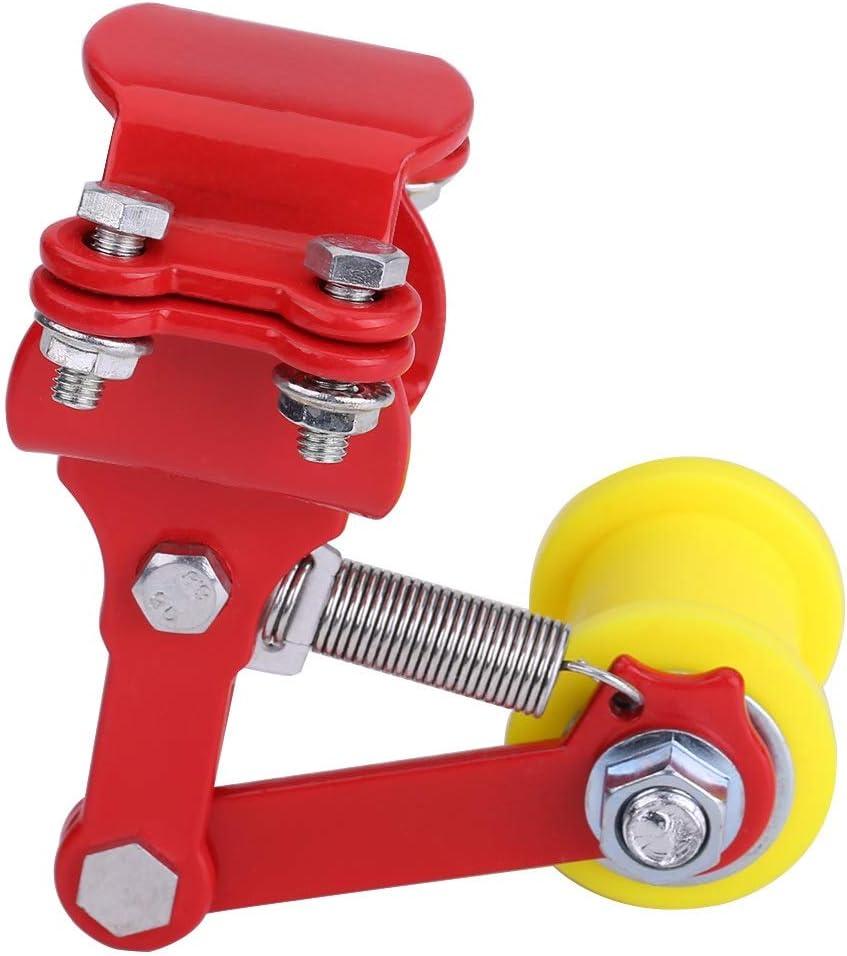 Farbe : Black Kettenspanner-Einsteller Kettenspanner Bolt On Roller Motorrad Ge/ändertes Zubeh/ör Universal Tool Rot