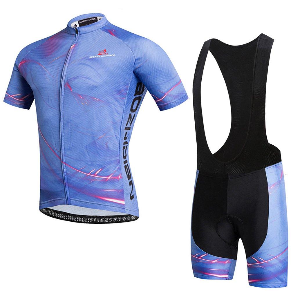 Verge Men/'s Medium Short Sleeve Cycling Jersey Blue//White New