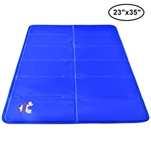 Arf Pets Pet Dog Self Cooling Mat Pad for Kennels, Crates and Beds 23x35