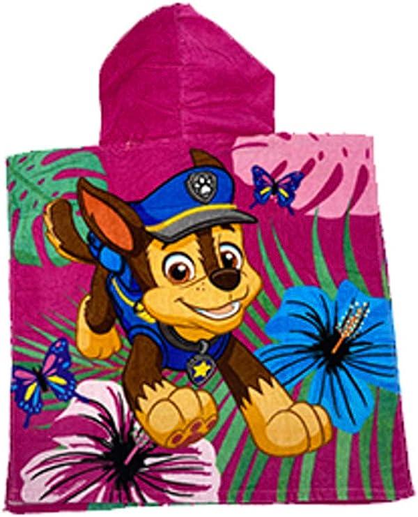 SETINO 821-574 Paw Patrol Poncho de ba/ño Infantil con Capucha 55 x 80 cm
