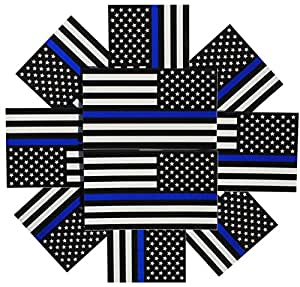 Amazon.com: Reverse Thin Blue Line Flag Decals - 3x5 in ...