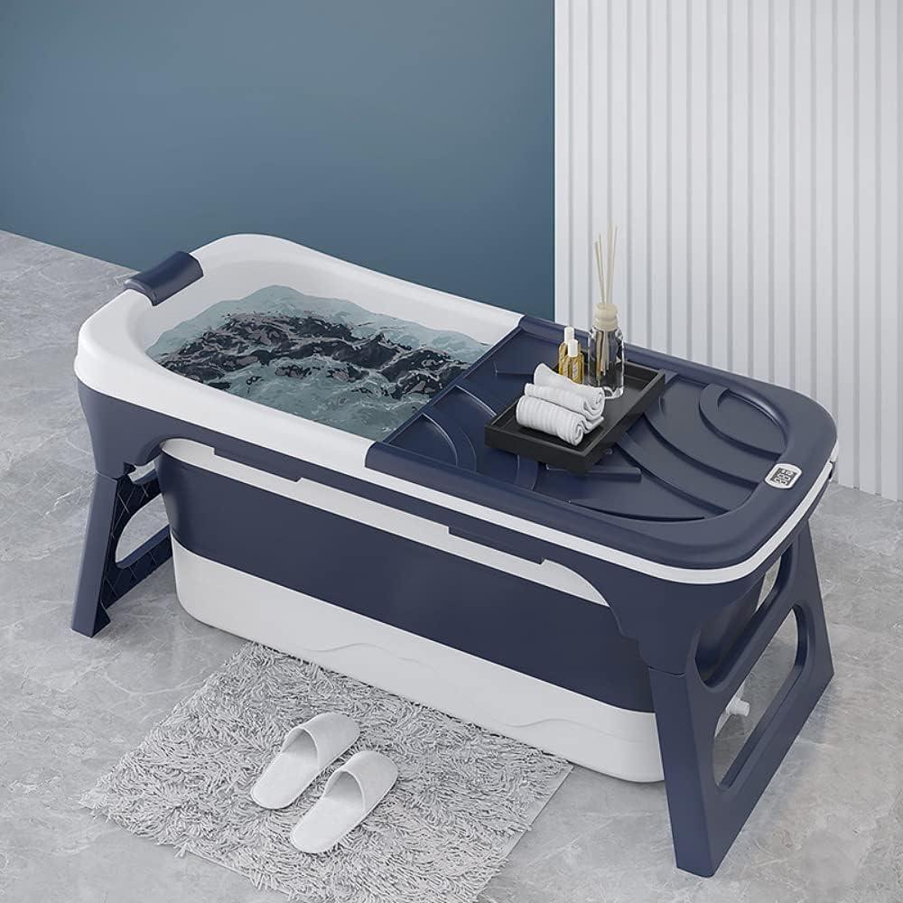 CRS Bañera plegable de 118 x 61 x 58 cm para niños y adultos, ideal para pequeños baños [nuevo] bañera móvil plegable, plegable, bañera plegable para colocar de pie