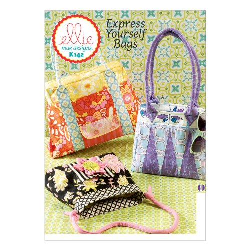 KWIK-SEW Ellie Cloth Purse and Handbag Sewing Pattern K0142OSZ Sew Purse Pattern
