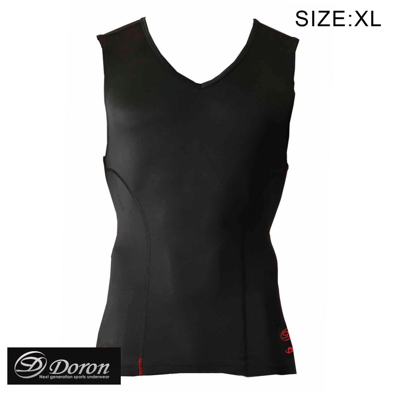 ビリヤード ドロン MENS Vネックシャツ ブラック XL(Doron)   B00G7GDKJ4