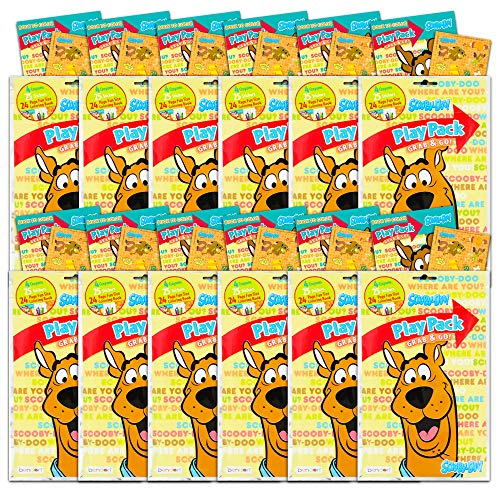 Scooby Doo Party Favors Pack ~ Bundle of 12 Scooby Doo Play Packs Filled with Stickers, Coloring Books, and Crayons (Scooby Doo Party Supplies)