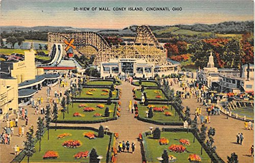 View of Mall, Coney Island Cincinnati, Ohio, OH, USA Postcard Post - Cincinnati Oh Mall
