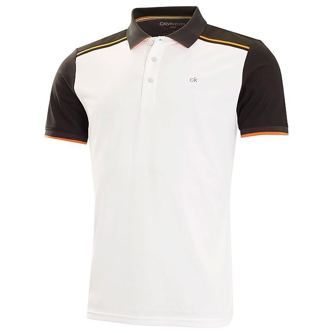 Calvin Klein - Polo - para Hombre Blanco Blanco/Negro L: Amazon.es ...