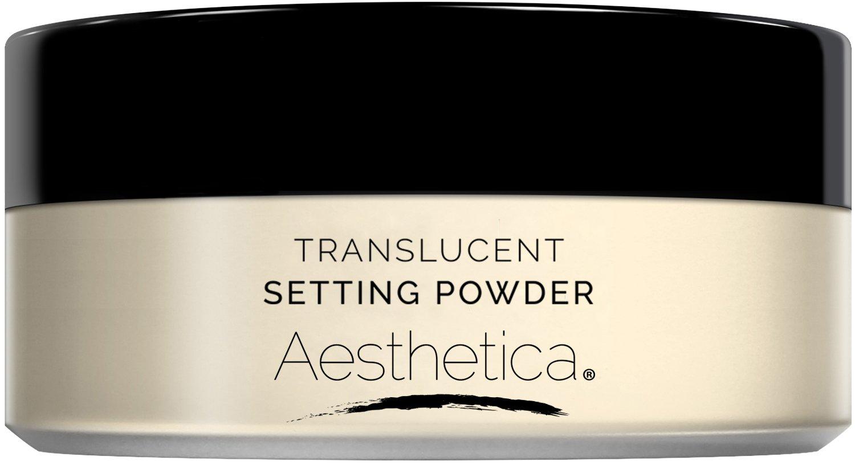 Aesthetica Translucent Loose Setting Powder – Matte Finishing Powder – Flash Friendly - Includes Velour Puff