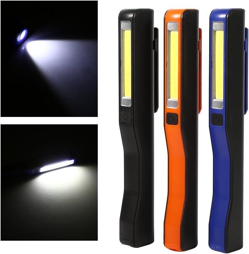 Noir Lampe de Travail LED USB Rechargeable Avec Magn/étique Lampe de Torches de LED Torche Portative avec loutil de M/énage dagrafe daimant