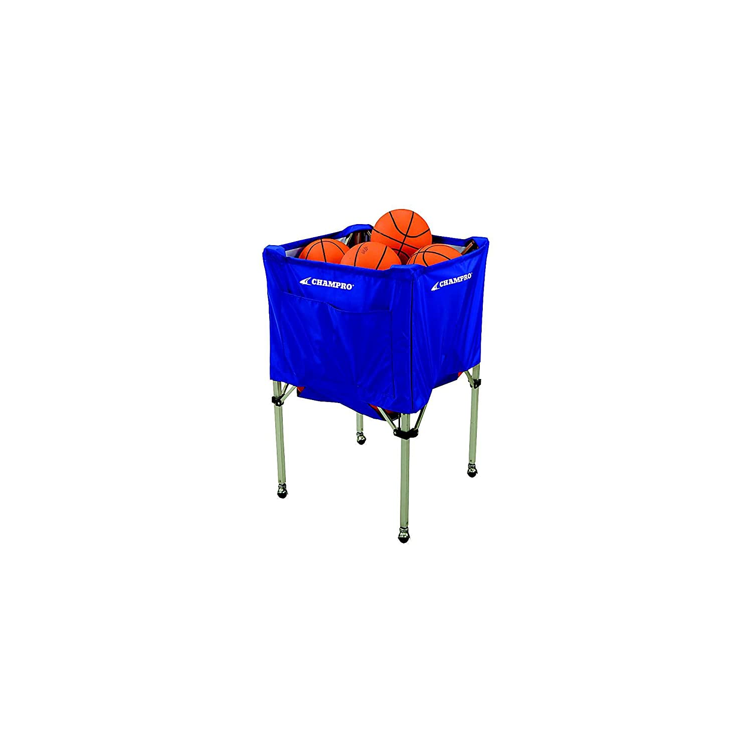Champro Fold Up Ball Cart (Blue, 25 x 25 x 40) BR10