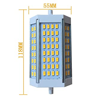 LED R7S 118MM, 25W, luz blanca (6000K-6500K), 5630SMD luz