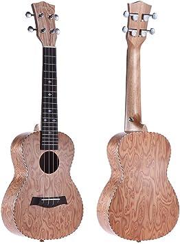 Kmise Professional Ukelele Hawaii guitarra ac/ústica Instrumentos Musicales de Madera de Sapele Ukelele de concierto 23/Inch Negro