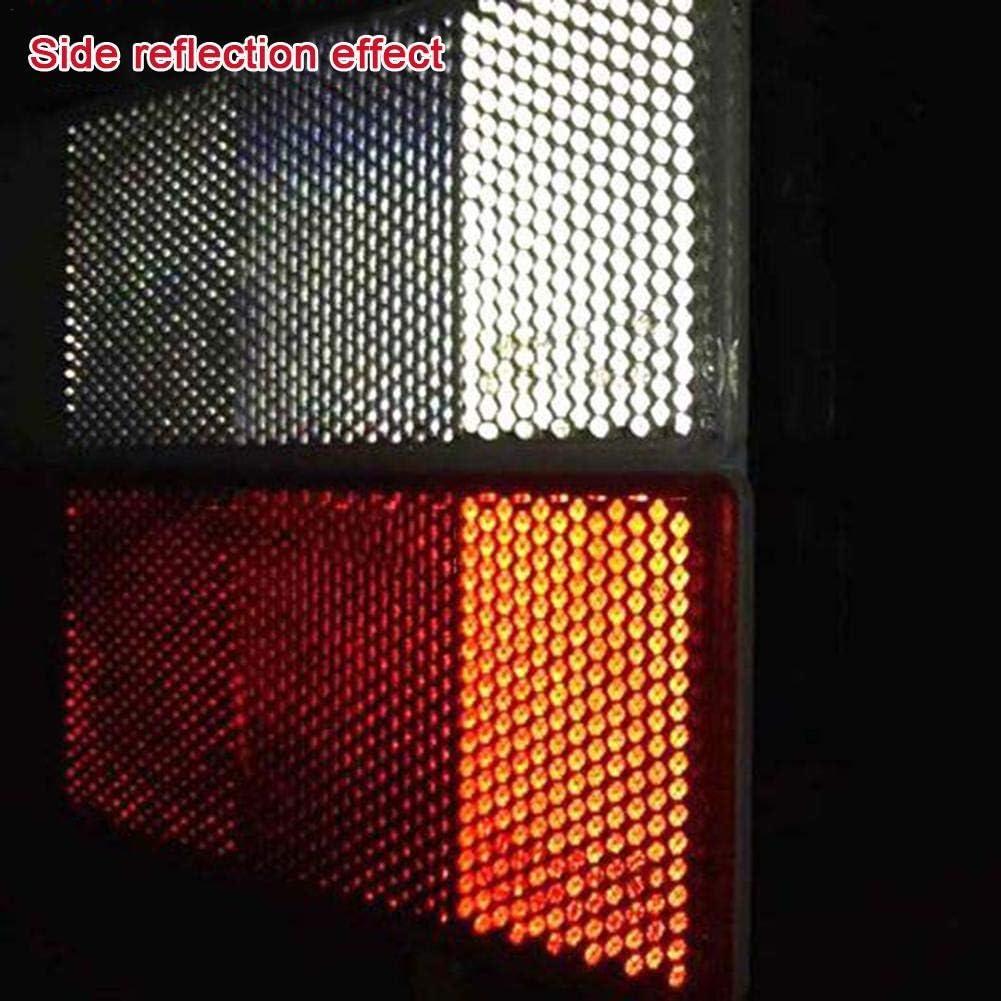 Adesivi Catarifrangenti Adesivi Impermeabili Riflettori Riflettenti Stickers Riflettore In Plastica Stick-on Riflettori Di Sicurezza Autoadesivo Del Paraurti Di Lunga Vita Per Coda Di Camion Veicolo