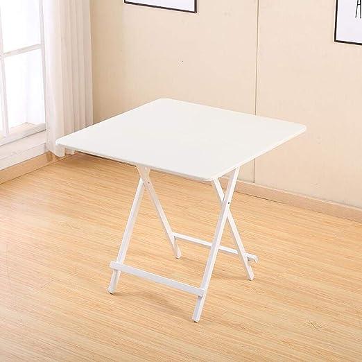 QYSZYG Mesa Plegable Mesa de Color portátil Mesa de Comer en casa ...